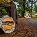 Vernonia Springs Sign at main gate