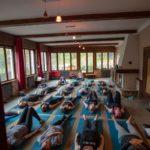 yoga training room, indoor space, yoga mat