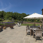 retreat farmhouse courtyard outside dining east sussex