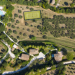 Villa Oliveto Birds Eye View + tennis court