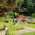 Japanese garden Raithby Hall